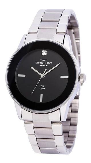Relógio Feminino Backer Aço Inox - 3997123f - Promoção + Nf