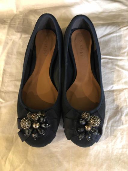 Ballerina Westies 7usa 4mex Azul Flats