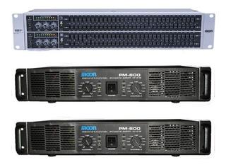 Combo Cuotas Audio Moon Power 2 Potencias 600w Ecualizador