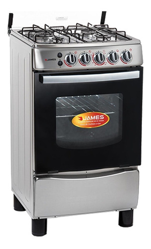 Cocina James C655 Ac. Inoxidable Luz En Horno A Gas Dimm