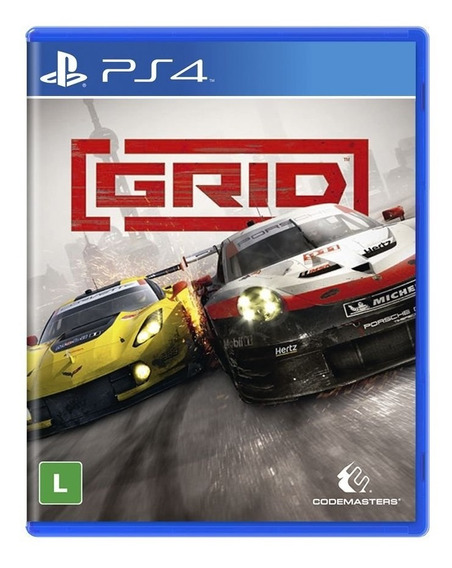 Game Grid Ps4 Mídia Física Novo Lacrado Dublado Português Br
