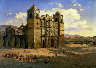 Lienzo Tela Canva Catedral Oaxaca José María Velasco 60 X 85