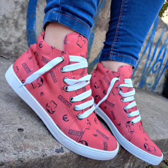 Tênis Coturno La Casa De Papel - Closet Shoes Brasil