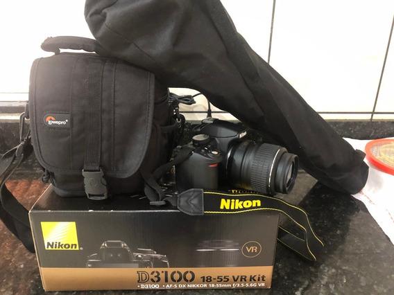 Câmera Profissional D3100 18-55 Vr Com Tripé E Bolsa