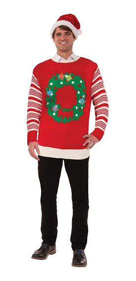 Christmas Ugly Sweater Suéter Navidad Xl Unisex Guirnalda