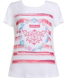 Blusa Feminina Manga Curta Estampada Em Crepe E Viscose Seik