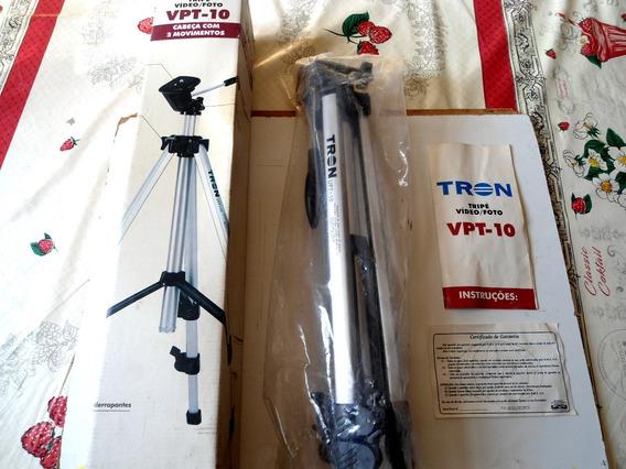 Tripé Tron Vpt-10 Para Foto & Vídeo Original - Na Caixa !!