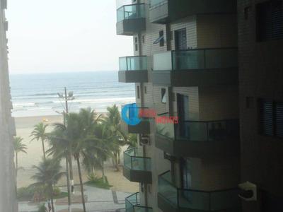 Frente Ao Mar Com 2 Dormitórios Amplo E Mobiliado Com Lazer E Portaria - Ap0995