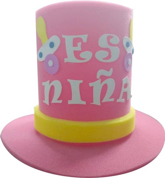 Sombrero Baby Shower Hule Espuma Es Niña Fiesta Recuerdo