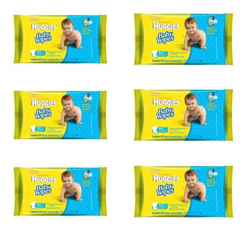 Huggies Baby Wipes Lenços Umedecidos C/48 (kit C/06)