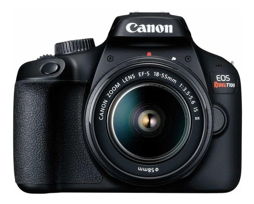 Canon EOS Rebel T100 18-55mm IS II Kit DSLR color negro