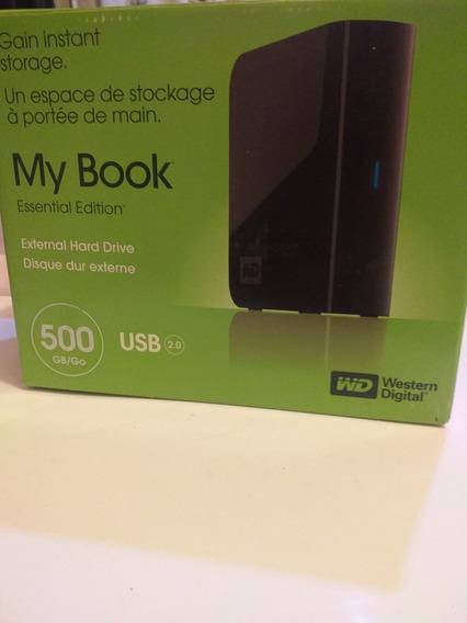 Hd Externo Western Digital 500 Gb My Book Essential Usb 2.0