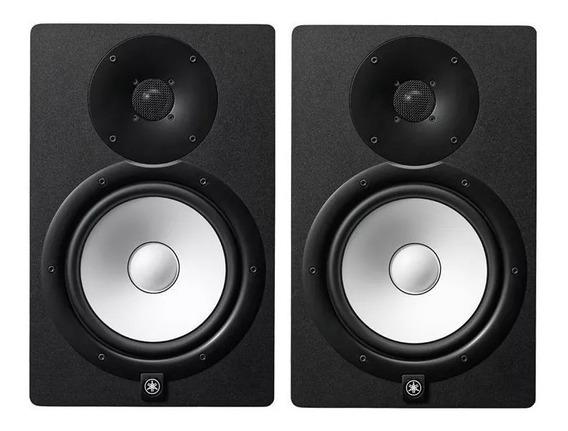 Par De Monitor Yamaha Hs8 Preto Ativo - O Melhor Do Mercado