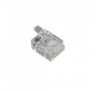Linkmade 10-unids Rj12 6p6c Macho Conector Crimpeable Rj25