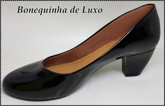 Sapato Retro Preto Verniz Numeração Especial 41 42 43
