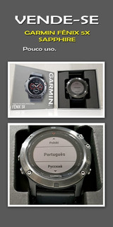 Relogio Garmin Fenix 5x 51mm Sapphire.