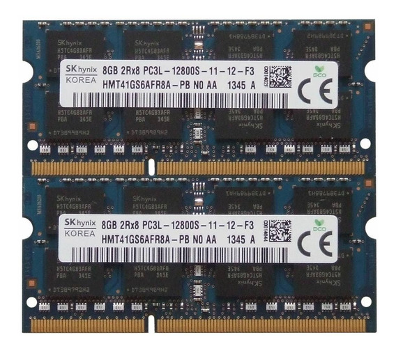 Memoria Dual Channel Skhynix Ddr3 2x8g 1600mhz Mac Notebook