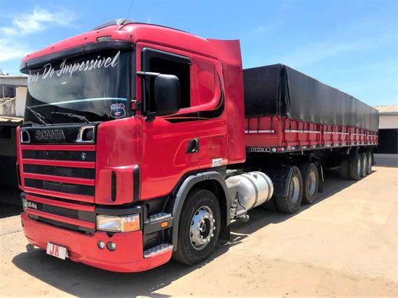 Conjunto Scania 124 360 Com Carreta Noma