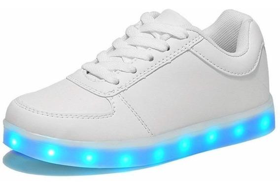 Zapatillas Con Luces Led 10 Colores Usb Unisex Envió