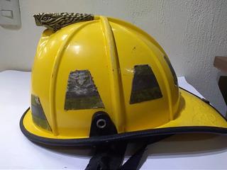 Casco De Bomberos Amarillo Coleccionable