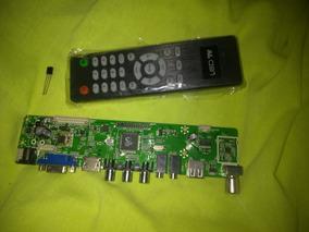 Placa De Tv Universal Com Controle Remoto E Receptor