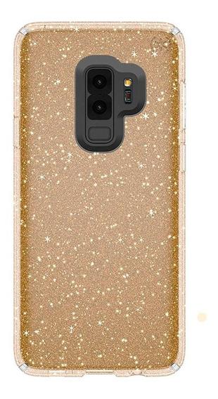 Speck Funda Presidio Clear Glitter Galaxy S9+ Clear/gold
