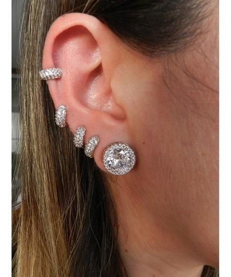 Argola Pequena Piercing Cartilagem Segundo Furo Semijoia Folheada A Ouro 18k