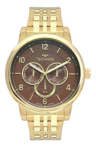 Relógio Technos Masculino 6p79bl/4m Multifunção Dourado