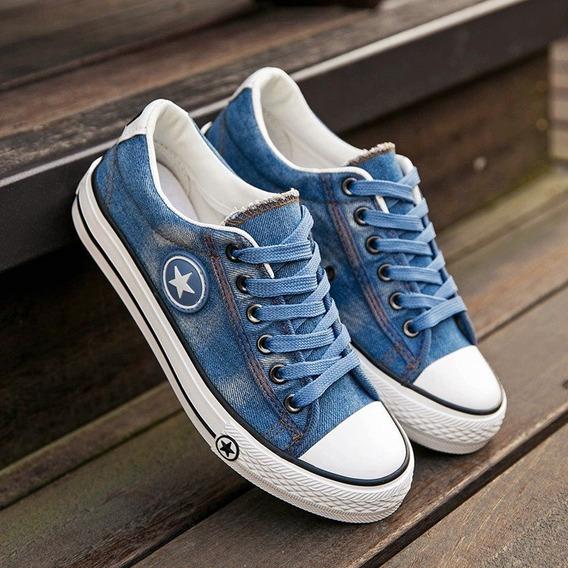 Tênis Jeans Baixo Pronta Entrega Estilo Chinesinho Importad