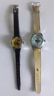 Reloj A Cuerda Retro De Niño X 2 Vintage Pinocho-super Raton