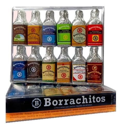 Estuche Regalo Chocolates Sabor A Licor Borrachitos X24 Uds