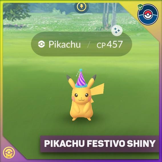 Pikachu Shiny Con Gorrito Festivo Por Intercambio