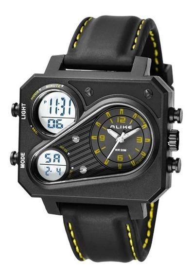Relógio De Pulso Masculino Esport Preto Alike Ak16119 Barato