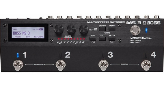 Pedaleira Boss Ms-3 Ms3 Multiefeitos Footswitch Midi Usb