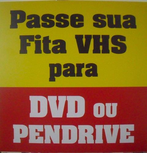 Imagem 1 de 8 de Vhs Para Pen Drive - Dvd