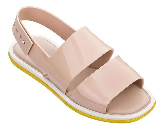 Sandália Melissa Carbon Bege Amarelo Branco 326885