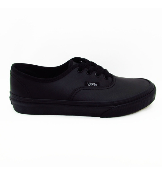 Tenis Vans Authentic Classic Vn00018rl3b Piel Leather Black