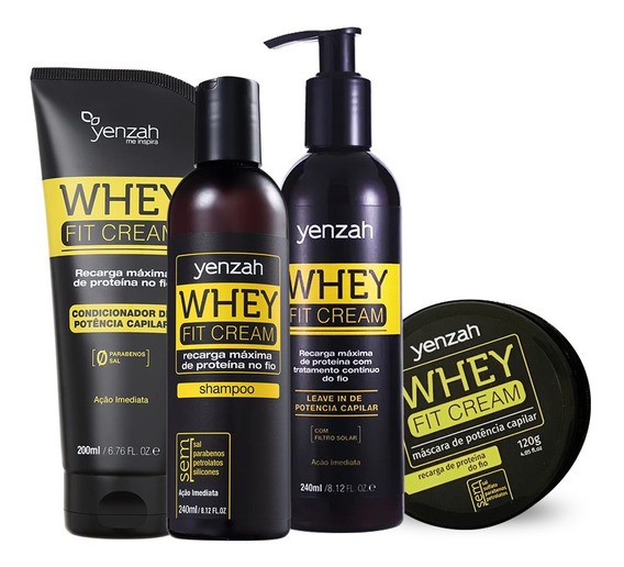Kit Yenzah Power Whey Fit Cream (4 Produtos)