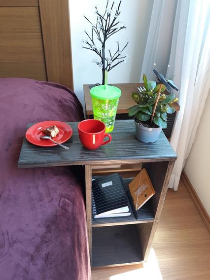 Mesa Lateral Café Da Manha Criado Mudo Notebook Promo