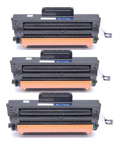 Kit 03toner D103 103l Para Impressora Ml-2950nd Ml-2951 Ml-2