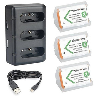 Npbx1 Newmowa Battery 3pack Y 3channel Usb Charger Set Para