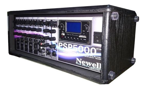 Mixer Amplificado 6 Canais Com Efeito Newell Psp5000 Bt-rec