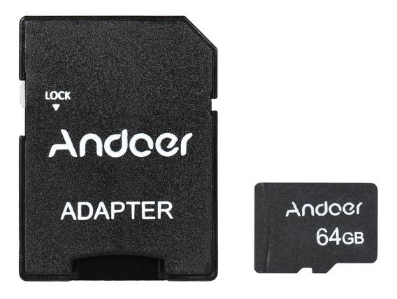 Andoer 64 Gb Classe 10 Cartão De Memória Tf Card + Adaptador