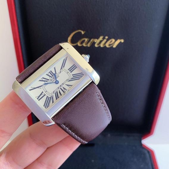 Cartier Tank Divan Impecável Com Caixa