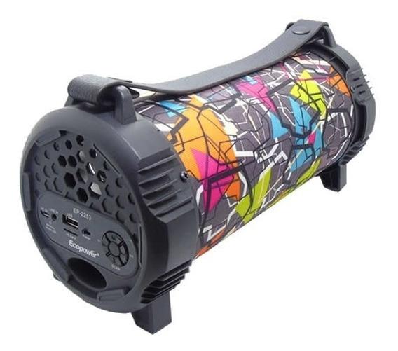 Caixa De Som Ecopower Ep-2253 Usb Sd Radio Fm Bluetooth