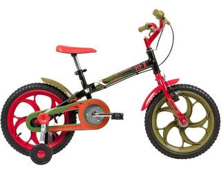 Bicicleta Aço Power Rex Aro 16 Preto 1 Un Caloi