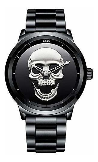 Lige Reloj Para Hombre, Calavera, Skull, Moderno, Correa De