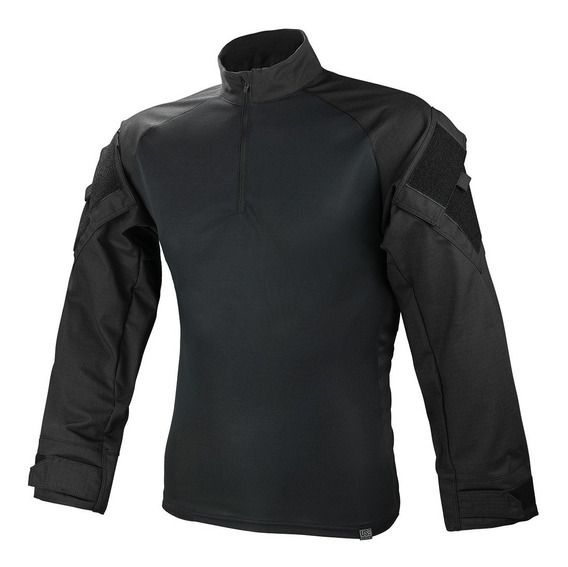 Camisa Combat T-shirt Preta Militar Reforçada Use Tático