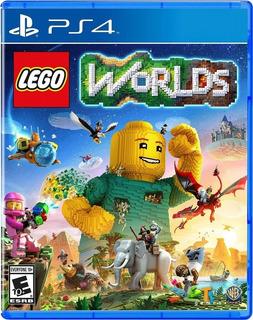Ps4 Lego Worlds Playstation 4 Nuevo Disponible