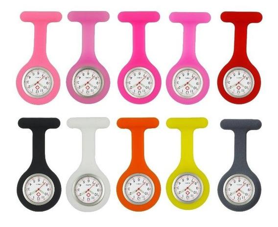 Relógio De Lapela Silicone Para Enfermagem 13 Unidades
